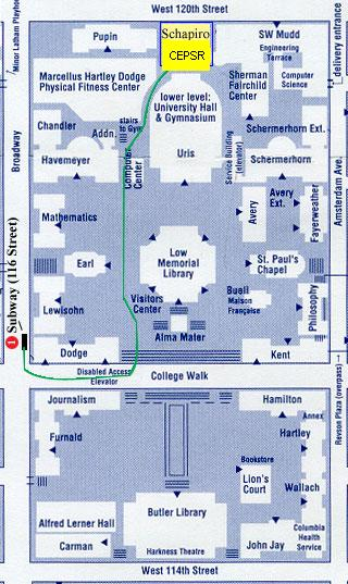 Columbia Campus Map